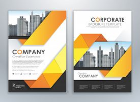 Modern Yellow Brochure Design, Brochure Template, Brochures, Brochure Layout, Brochure Cover, Brochu