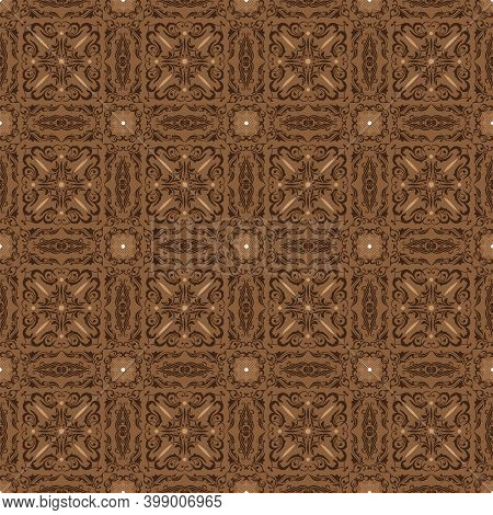 Unique Motifs Design On Parang Batik With Smooth Brown Color Concept.