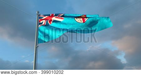 3d Rendering Of The National Flag Of The Fiji
