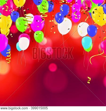 Festive Balloons Birthday Party, Children's Holiday, Feast, Fiesta, Fete , Gala Day. , St. Valentine