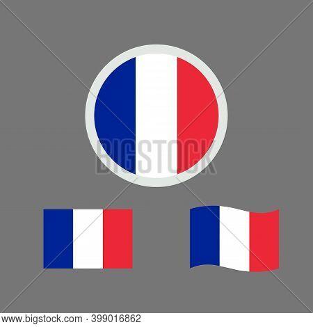 Vector Illustration Of France Flag Sign Symbol. France Flag Vector. France National Flag.