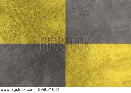 Soft Smooth Grey And Yellow Plush Fleece. Velvet Texture Background. Synthetic Fur Texture Blanket P