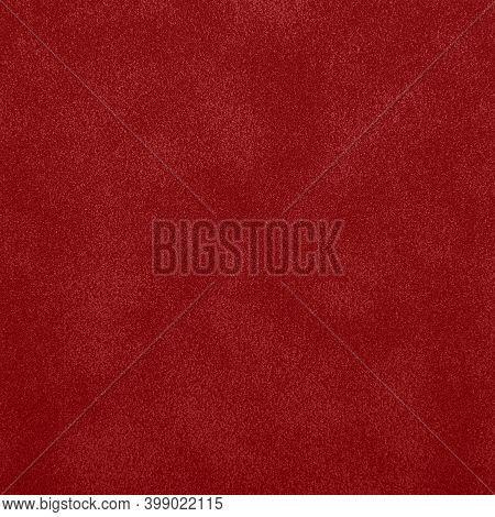 Red Abstract Uneven Grunge Background Texture Of Chamois Leather Grain Surface Pattern