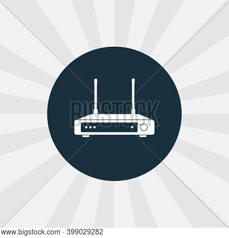 Wi Fi Icon. Wi Fi Router Isolated Vector Icon. Digital Technologies Design Element
