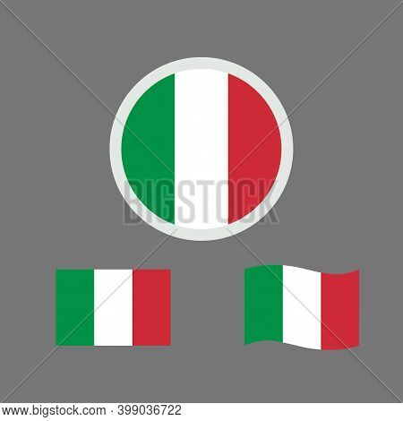 Vector Illustration Of Italy Flag Sign Symbol. Italy Flag Vector. Italian National Flag.