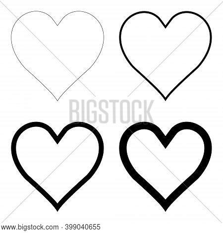 Like Heart Symbol Icon Contour, Outline . Live Webcast Webinar, Chat. Vector Social Network Black Gr