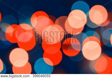 Blurred festive background. Blurred abstract Christmas background, blurred festive Christmas multicolor bokeh background, blurred light bokeh pattern