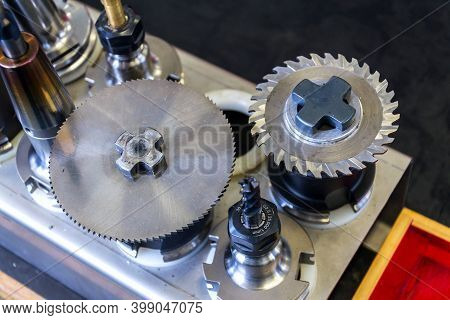 Automation And Industry 4.0 Concept With Modern Cnc Milling Machine Cutters Detail