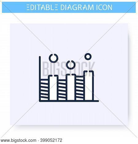Comparison Diagram Line Icon.statistics Bar Chart. Business, Analytics, Structure Visualisation. Inf