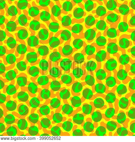 Vector Tropical Chameleon Or Colored Sea Fish Skin Seamless Pattern