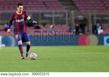 Barcelona (spain). 08th December 2020. Lionel Messi Of Fc Barcelona   During The Uefa Champions Leag