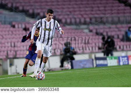 Barcelona (spain). 08th December 2020. Alvaro Morata Of Juventus Fc   During The Uefa Champions Leag