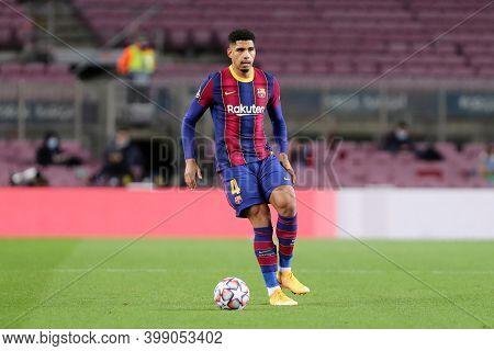 Barcelona (spain). 08th December 2020. Ronald Araujo Of Fc Barcelona   During The Uefa Champions Lea