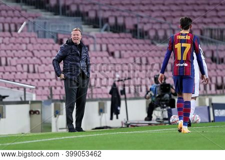 Barcelona (spain). 08th December 2020. Ronald Koeman Of Fc Barcelona   During The Uefa Champions Lea