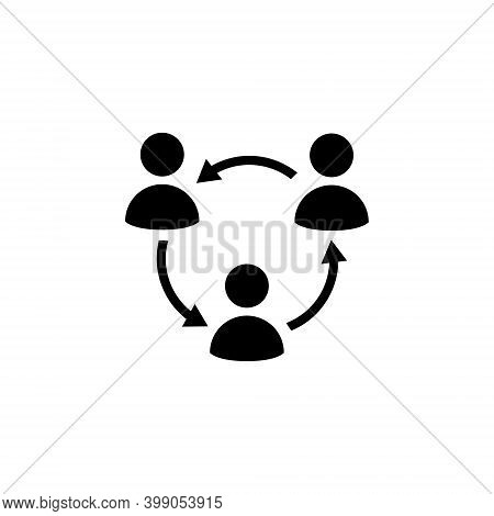 Male Multiple Sharing Business Icon Vector. People Network Social Connection Symbol Illustration