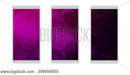 Abstract Backgrounds For Cell Phones.templates Or Screensavers For Mobile Applications.colored Reali