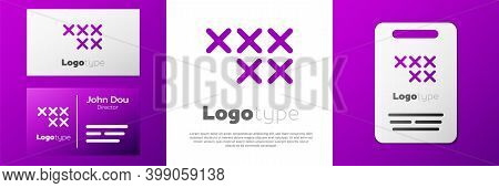 Logotype Adjustable Embroidery Hoop Icon Isolated On White Background. Thread And Needle For Embroid