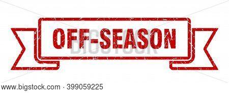 Off-season Grunge Vintage Retro Band. Off-season Ribbon