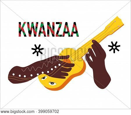 Kwanzaa Celebration Poster.festival Of African-american Culture,music And Harvest Traditions.new Yea