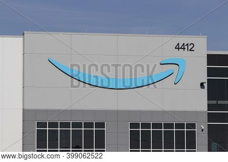 Greenfield - Circa December 2020: Amazon.com Fulfillment Center. Amazon Is The Largest Internet-base