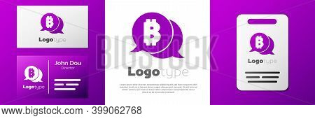 Logotype Cryptocurrency Coin Bitcoin Icon Isolated On White Background. Physical Bit Coin. Blockchai