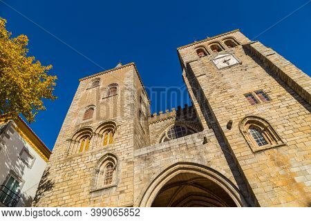 Cathedral of Evora, a Roman Catholic church whose real name is Basilica Cathedral of Our Lady of Assumption. Evora. Portugal