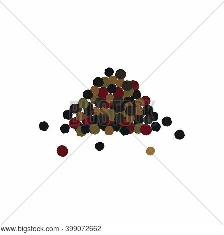 Heap . Pepper Mixture. Black, Red And White Pepper