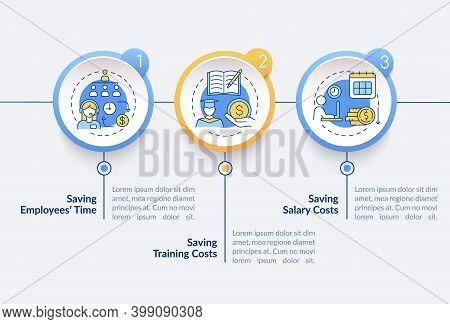 Hiring Virtual Assistant Benefits Vector Infographic Template. Cut Cost Presentation Design Elements
