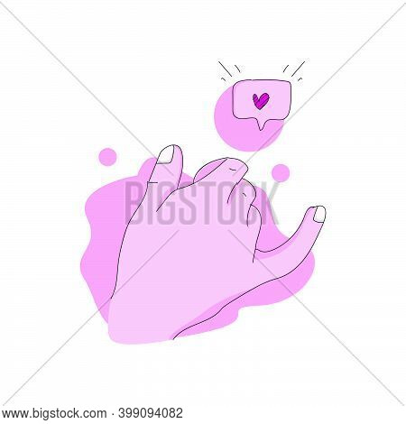 Promise Hand Gesture Design Illustration Concept. Vector Isolated On White Background