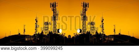 Radio and cellular cell broadcast communication towers and receivers
