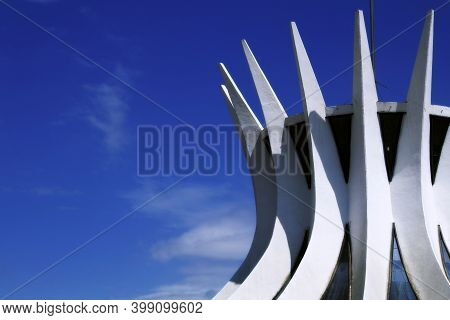 Brasilia, Df, Brazil - August 22, 2020: The Cathedral Of Brasília (\