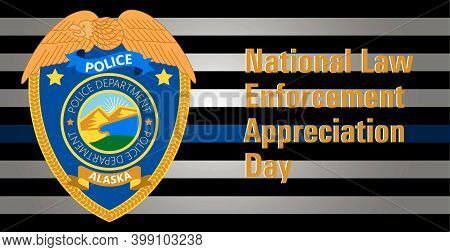 Law Enforcement Appreciation Day Is Celebrated In Usa On January 9th Each Year. Police Department Ba
