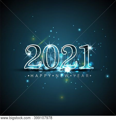 Happy New Year Elegant Design - Vector Illustration Of 2021 Logo Numbers On Black Background - Perfe