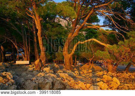 Touristic view of the Dalmatian Coast, Makarska Riviera, Croatia, Europe