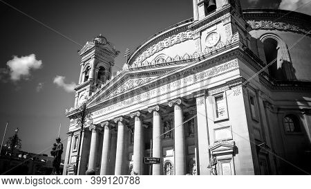Mosta Rotanda - Famous Cathedral On The Island Of Malta - Island Of Malta, Malta - March 5, 2020