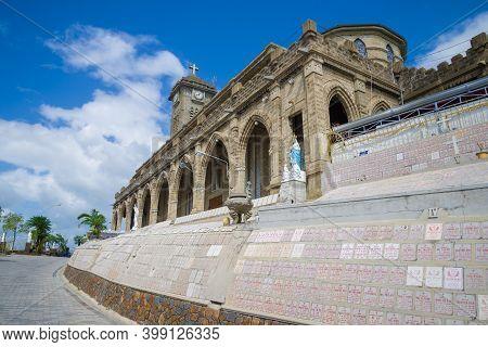 Nha Trang, Vietnam - Jan 01, 2016: At Nha Trang Catholic Cathedral On A Sunny Day