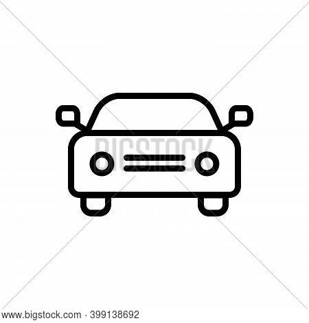 Black Line Icon For Car Auto Passenger Automobile Conveyance Carriage Automotive Transport Travel
