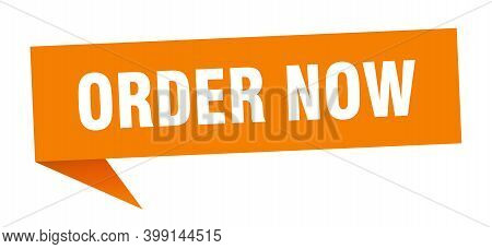 Order Now Speech Bubble. Order Now Sign. Order Now Banner