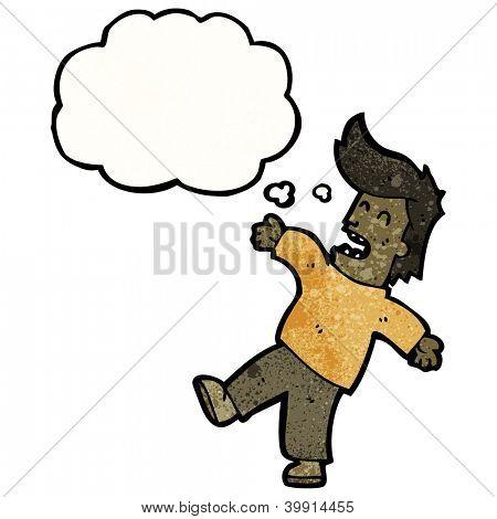 cartoon fainting man