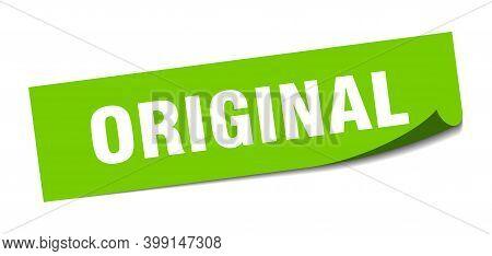 Original Sticker. Original Square Isolated Sign. Original