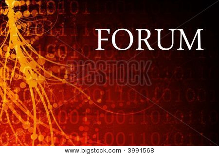 Forum Abstract Background in Red and Black poster