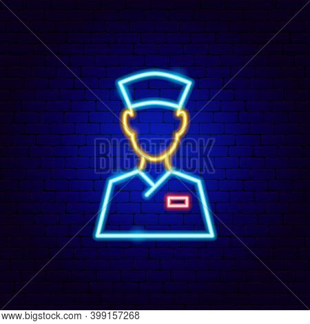 Doctor Neon Sign. Vector Illustration Of Stomatology Promotion.