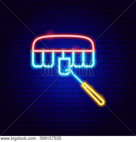 Veneers Neon Sign. Vector Illustration Of Stomatology Promotion.