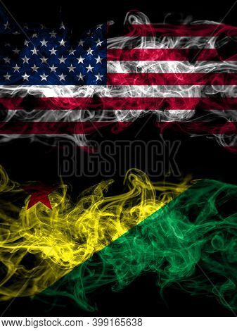 United States Of America, America, Us, Usa, American Vs Brazil States Acre Smoky Mystic Flags Placed
