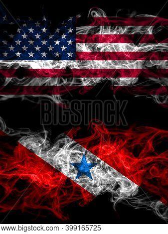 United States Of America, America, Us, Usa, American Vs Brazil, Brazilian, Para Smoky Mystic Flags P