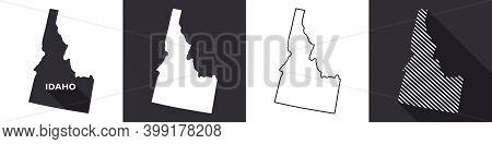 State Of Idaho. Map Of Idaho. United States Of America Idaho. State Maps. Vector Illustration