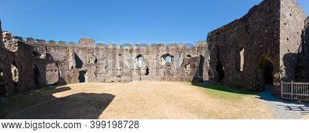 Restormel Castle Near Lostwithiel . This Is One Of The Four Chief Norman Castles Of Cornwall. The Ca