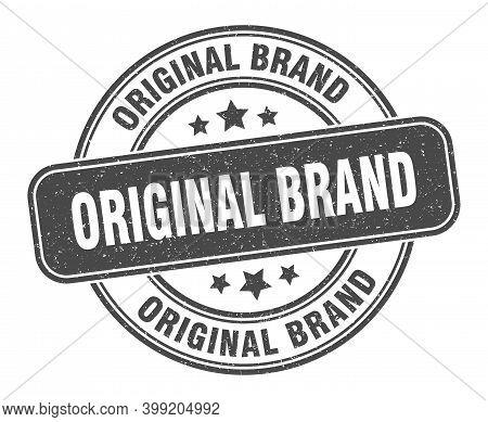 Original Brand Stamp. Original Brand Label. Round Grunge Sign