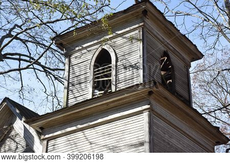 Decayed Steeple On Jeannie Shelton Memorial Church In Mcminn County Tennessee