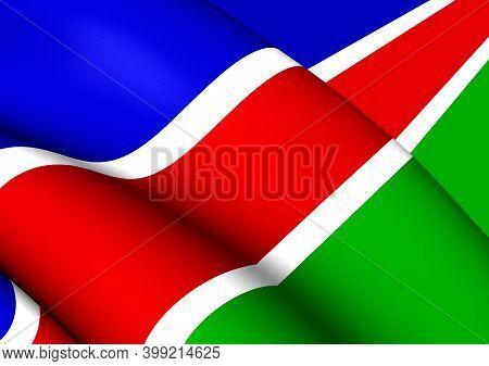 3d Flag Of Laarbeek (north Brabant), Netherlands. 3d Illustration.